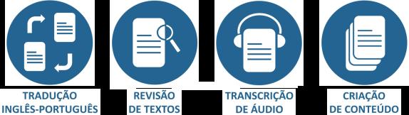 Ícone tradução, revisão, transcrição e criação de conteúdo